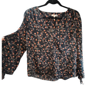 Rebecca Taylor Floral Statement Sleeve Blouse 12
